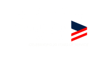 White Text Logo Stars Tag